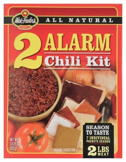 Chili Seasonings, Wick Fowler's® 2 Alarm Chili Kit (3.625 oz Bag)