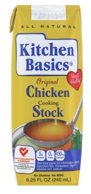 Boxed Broth, Kitchen Basics® Chicken Stock (8.25 oz Carton)