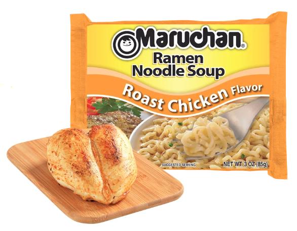 Ramen, Maruchan® Ramen with Roast Chicken Flavor Noodle Soup (3 oz Bag)