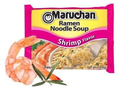 Ramen, Maruchan® Ramen with Shrimp Flavor Noodle Soup (3 oz Bag)