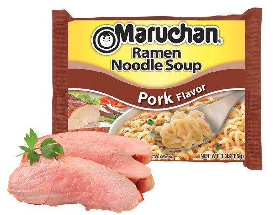 Ramen, Maruchan® Ramen with Pork Flavor Noodle Soup (3 oz Bag)