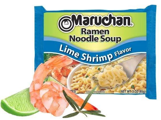 Ramen, Maruchan® Ramen with Lime Shrimp Flavor Noodle Soup (3 oz Bag)
