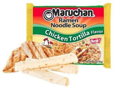 Ramen, Maruchan® Ramen with Chicken Tortilla Flavor Noodle Soup (3 oz Bag)