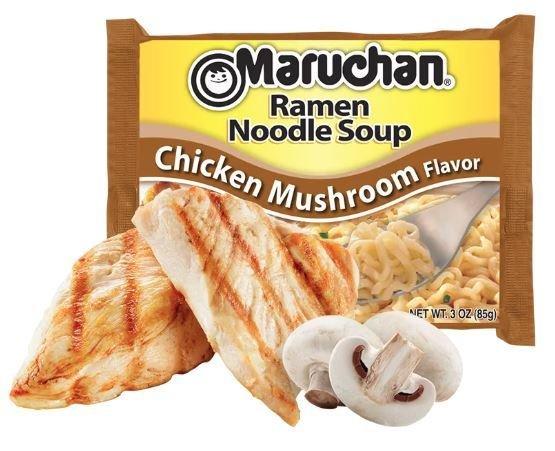 Ramen, Maruchan® Ramen with Chicken Mushroom Flavor Noodle Soup (3 oz Bag)