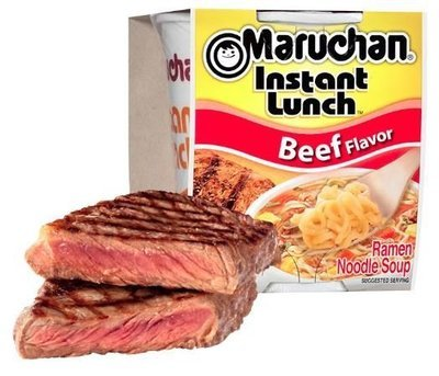 Ramen, Maruchan® Instant Lunch® Beef Ramen (2.25 oz Cup)