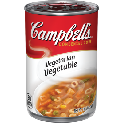 Canned Soup, Campbell's® Condensed® Vegetarian Vegetable Soup (10.5 oz Can)