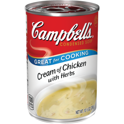 Canned Soup, Campbell's® Condensed® Cream of Chicken with Herbs Soup (10.5 oz Can)