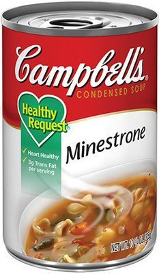 Canned Soup, Campbell's® Healthy Request® Minestrone Soup (10.5 oz Can)