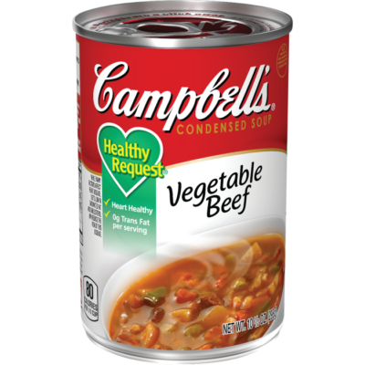 Canned Soup, Campbell's® Healthy Request® Vegetable Beef Soup (10.5 oz Can)