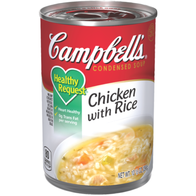 Canned Soup, Campbell's® Healthy Request® Chicken with Rice Soup (10.5 oz Can)