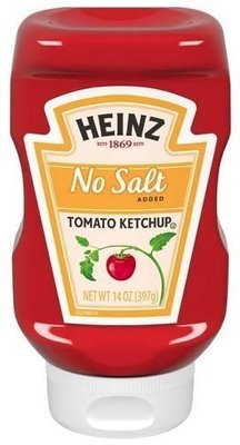 Ketchup, Heinz® No Salt Ketchup (14 oz Bottle)