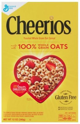 Cereal, General Mills® Cheerios® Cereal (12 oz Box)