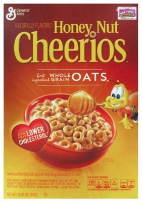 Cereal, General Mills® Cheerios® Honey Nut Cereal (10.8 oz Box)