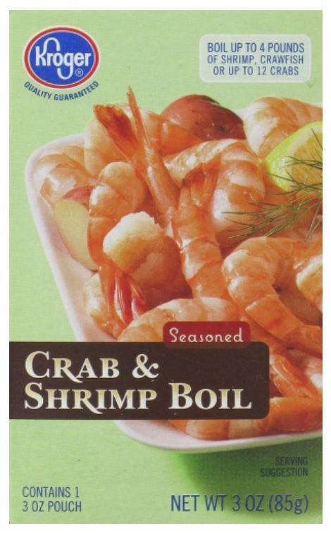 Frozen Shrimp, Kroger® Crab & Shrimp Boil (3 oz Box)