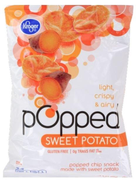 "Potato Chips, Kroger® ""Small Size"" Popped Sweet Potato Chips (3 oz Bag)"