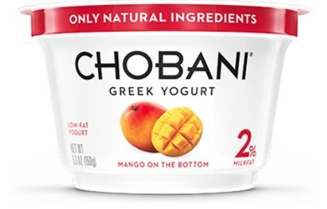 Yogurt, Chobani® Greek Mango 2% Yogurt (5.3 oz Cup)