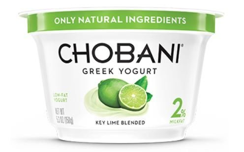 Yogurt, Chobani® Greek Key Lime 2% Yogurt (5.3 oz Cup)