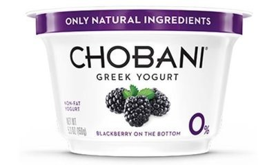 Yogurt, Chobani® Greek Black Berry 0% Yogurt (5.3 oz Cup)