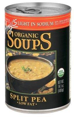 Canned Organic Soup, Amy's® Organic Split Pea Soup, Low Fat & Light Sodium (14.1 oz Can)