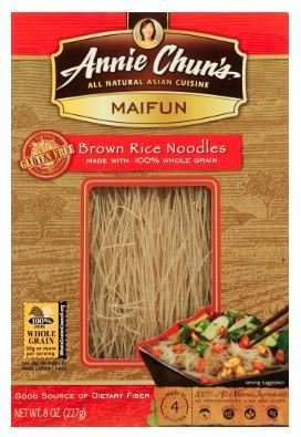 Noodles, Annie Chun's® Maifun Brown Rice Noodles (8.0 oz Box)