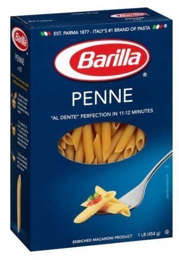 Pasta, Barilla® Penne Pasta (16 oz Box)
