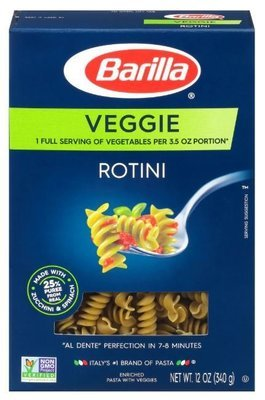 Pasta, Barilla® Veggie Rotini Pasta (12 oz Box)