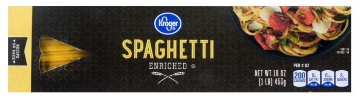 Pasta, Kroger® Spaghetti Pasta (16 oz Box)