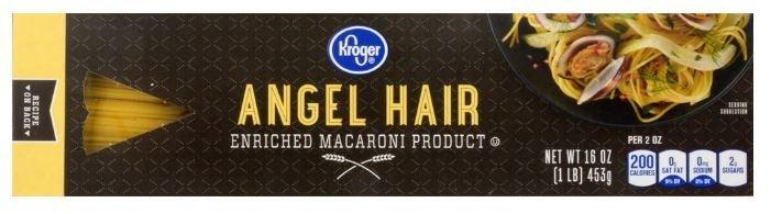 Pasta, Kroger® Angel Hair Pasta (16 oz Box)
