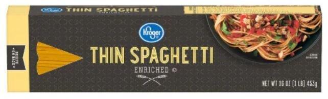 Pasta, Kroger® Thin Spaghetti Pasta (16 oz Box)