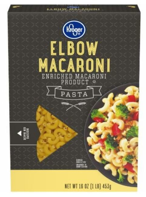 Pasta, Kroger® Elbow Macaroni Pasta (16 oz Box)