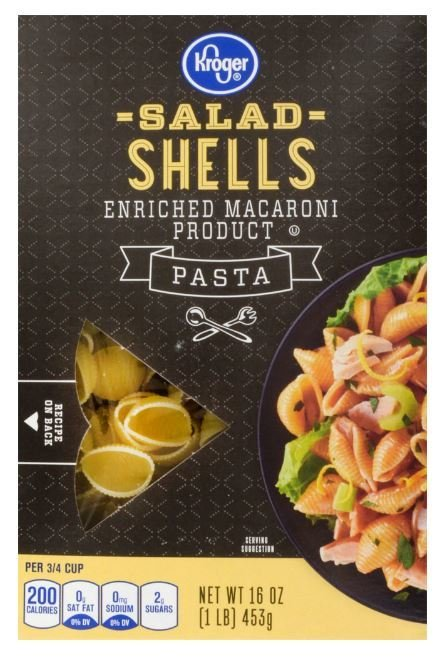 Pasta, Kroger® Shells Pasta (16 oz Box)