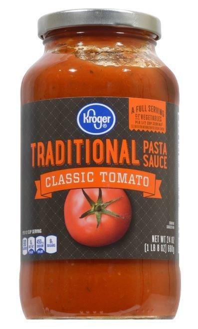 Pasta Sauce, Kroger® Traditional Pasta Sauce (24 oz Jar)