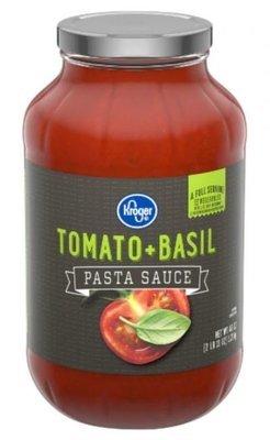 Pasta Sauce, Kroger® Tomato + Basil Pasta Sauce (43 oz Jar)
