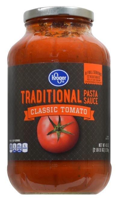 Pasta Sauce, Kroger® Traditional Pasta Sauce (43 oz Jar)