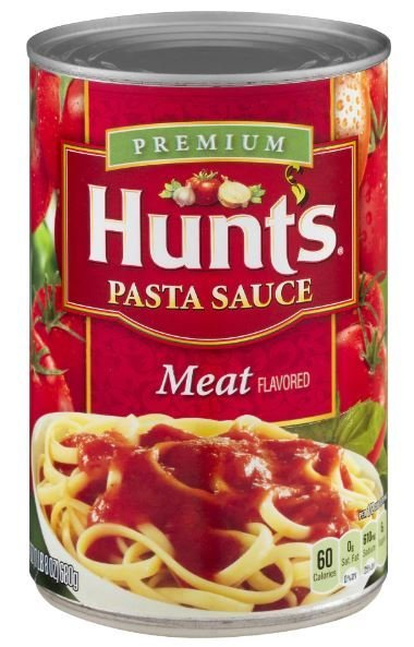Canned Tomato, Hunt's® Meat Basil Pasta Sauce (24 oz Can)