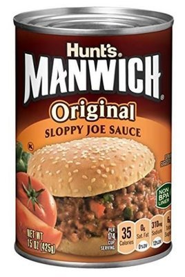 Chili Sauce, Hunt's® Manwich® Original Sloppy Joe Sauce (15 oz Can)