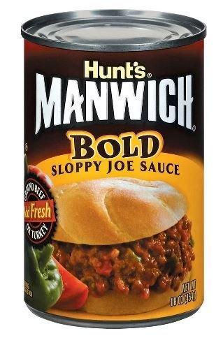 Chili Sauce, Hunt's® Manwich® Bold Sloppy Joe Sauce (16 oz Can)