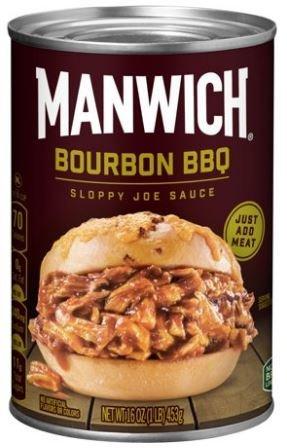 Chili Sauce, Hunt's® Manwich® Bourbon BBQ Sloppy Joe Sauce (16 oz Can)