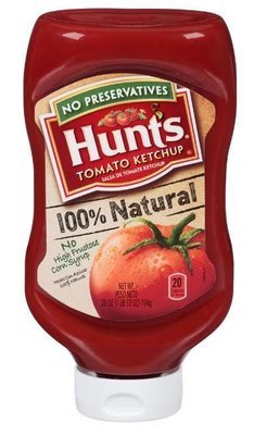 Ketchup, Hunt's® 100% Natural Tomato Ketchup (28 oz Bottle)
