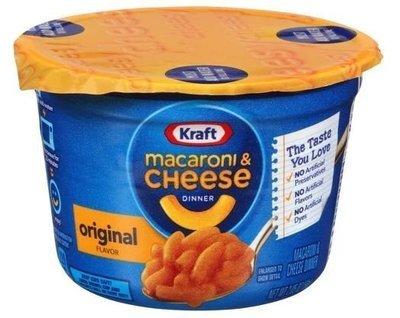 Mac N Cheese Cup, Kraft® Original Macaroni & Cheese (2.5 oz Cup)