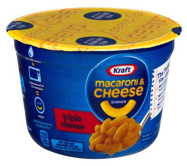 Mac N Cheese Cup, Kraft® Triple Cheese Macaroni & Cheese (2.5 oz Cup)