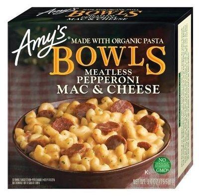 Mac N Cheese Dinner, Amy's® Organic Meatless Pepperoni Mac Bowl (9 oz Box)