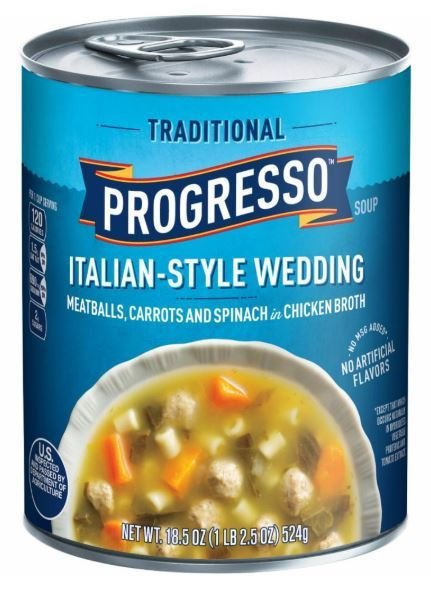"Canned Soup, Progresso® ""Traditional"" Italian Style Wedding Soup (18.5 oz Can)"