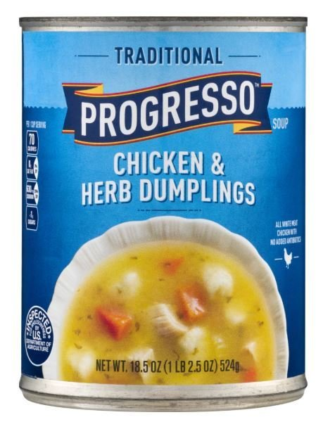 "Canned Soup, Progresso® ""Traditional"" Chicken & Herb Dumplings Soup (18.5 oz Can)"