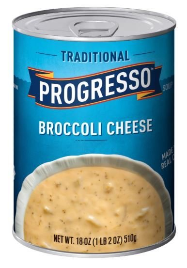 """Canned Soup, Progresso® """"Traditional"""" Broccoli Cheese Soup (19 oz Can)"""