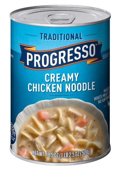 "Canned Soup, Progresso® ""Traditional"" Creamy  Chicken Noodle Soup (18.5 oz Can)"