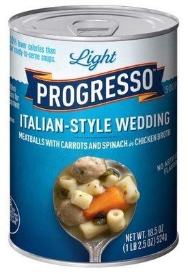 Canned Soup, Progresso® Light® Light Italian-Style Wedding Soup (18.5 oz Can)