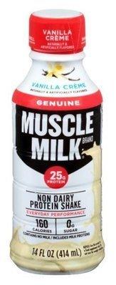 Non-Dairy Milk, Muscle Milk® Vanilla Creme  Nutritional Shake (14 oz Bottle)