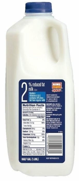 Dairy Milk, King Soopers® 2% Reduced Fat Milk (½ Gallon Jug)