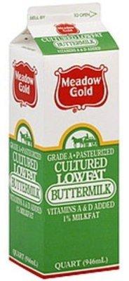Butter Milk, Meadow Gold® Buttermilk (1 Quart Carton)